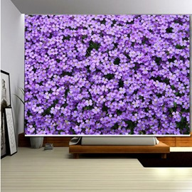 3D Printed Purple Violets Modern Style Blackout Roller Shades
