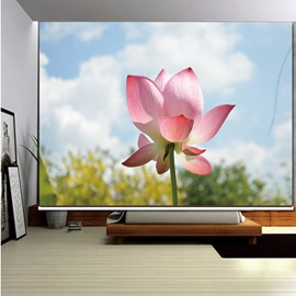 3D Printed Blooming Lotus Fresh Style Decoration and Blackout Room Curtain Roller Shades