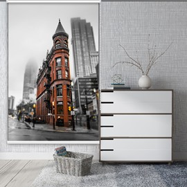 British architecture and London Street Style Blackout Curtain Roller Shades