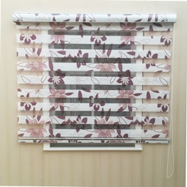Elegant Floral Printed Custom Sheer Shades