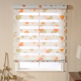 Country Style Colored Circles Printed Custom Sheer Shades
