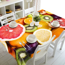 Delicious grapefruits and Kiwis Pattern 3D Tablecloth
