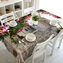 Amazing Flower House Pattern 3D Tablecloth