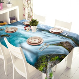 Beautiful Waterfall Scenery Pattern 3D Tablecloth