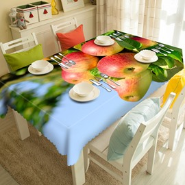 Natural Apple Tree Pattern 3D Tablecloth