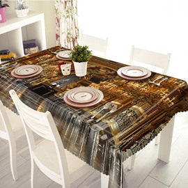 Glorious Polyester Palace Pattern 3D Tablecloth