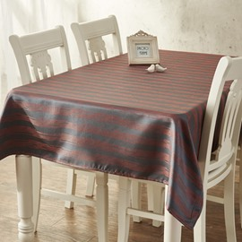 Stunning Rectangle Strips Pattern Machine Washable Home Decorative Tablecloth