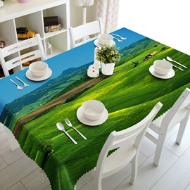 Creative Design Broad Grassland Prints Washable Polyester Fibre 3D Tablecloth