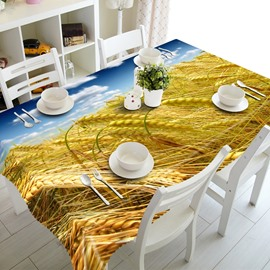 Blue Sky and Golden Cornfield Prints Dining Room Decoration 3D Tablecloth