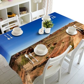 Blue Sky and Dry Land Prints Design Dining Room Decoration 3D Tablecloth
