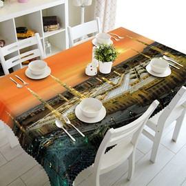 Modern Fashion Building Prints Design Dining Room Decoration 3D Tablecloth