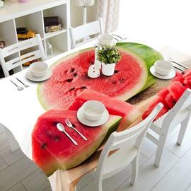 Delicious Fresh Watermelon Prints Design Washable 3D Tablecloth