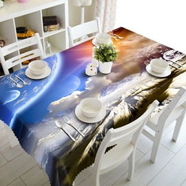 White Snow Mountain Prints Dining Room Decoration 3D Tablecloth