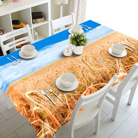 Stunning Autumn Golden Cornfield Prints Dining Room Decoration 3D Tablecloth