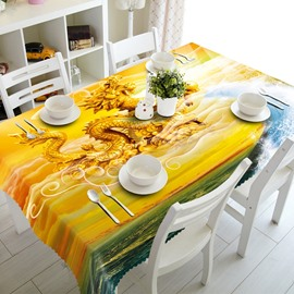 Magnificent Golden Dragon Prints Home Decoration 3D Tablecloth