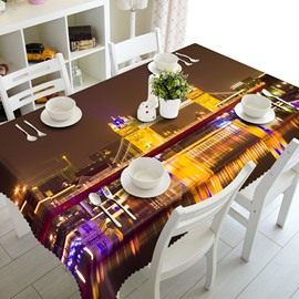 Fabulous the Thames Night Scenery Prints Home Decorative 3D Tablecloth