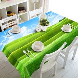 3D Classical Windows Lawn Printed Thick Polyester Oil-Proof and Water-Proof Table Cloth