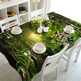 Mysterious Thick Forest Jungle Beauty Outdoors and Home 3D Table Runner Cloth Cover