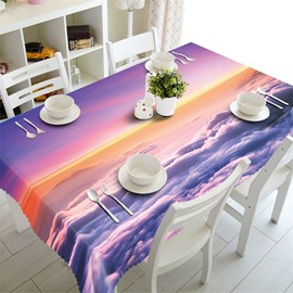 3D Colorful Sea of Clouds Printed Home and Hotel Table Cover Cloth