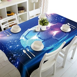 3D Football with Blue Background Printed Home and Party Table Runner Cover Cloth