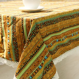High Quality Cotton Ethnic Style Square Table Runner Cover Cloth