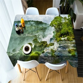 3D High Mountains and Thick Polyester Printed Home and Hotel Table Cloth