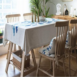 Lovely Fishes Printing Polyester Cotton Square Decorative Table Cloth