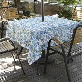 European Style Polyester Printed Technic Plant Pattern Oilproof Tablecloth