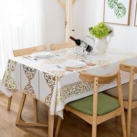 Nostalgia Style PVC Anti-Fouling Rectangle Printing Tablecloth