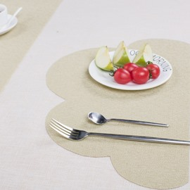 Cloud Shape Home Decorative Heat Insulation Plastic Material Table Placemat