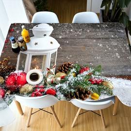 Christmas European Style Rectangle Polyester 3D Tablecloth