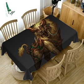 European Style Polyester Home Use Waterproof 3D Tablecloth