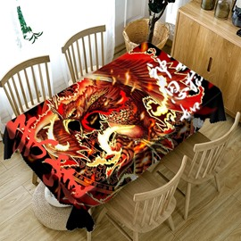 Polyester European Style Waterproof Printed Home Use 3D Tablecloth
