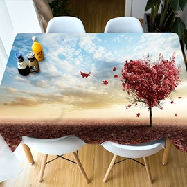 Polyester Waterproof Rectangle Oilproof Holiday Decoration 3D Tablecloth