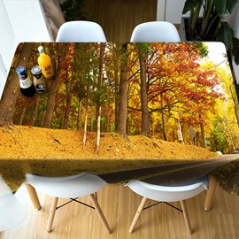Holiday Decoration Polyester Rectangle Home Use 3D Tablecloth