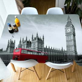 Sofft Holiday Decoration Polyester Oilproof 3D Tablecloth