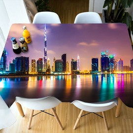 Polyester Printed European Style Waterproof 3D Tablecloth