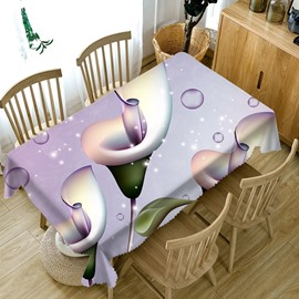 Polyester Soft European Style Home Use Rectangle 3D Tablecloth