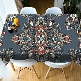 Realistic Design Vibrant Color Polyester 3D Tablecloth