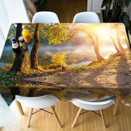 Realistic Design 3D Style Kitchen Decoration Party 3D Tablecloth