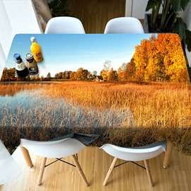 Realistic Design Polyester Home Decoration 3D Tablecloth