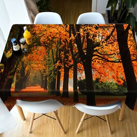 Surprise Party Dining Room Kitchen Multicolor 3D Tablecloth