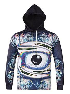 Long Sleeve Abstract Eye Pattern 3D Painted Hoodie