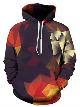 Creative Geometry Gradient Pattern 3D Painted Hoodie