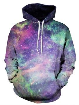 Long Sleeve Multicolor Galaxy Pattern 3D Painted Hoodie