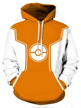 Fashion Long Sleeve Poke Ball Pattern Pullover 3D Painted Hoodie