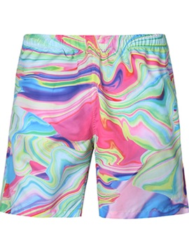 Popular Gradient Pattern Multicolor 3D Beach Shorts