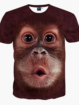 Adorable Baby Orangutans Pattern 3D Painted T-Shirt