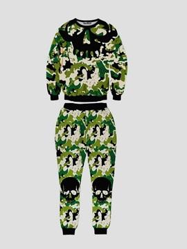 Camouflage Green Soldiers Men's 3D Sweatshirt Sets