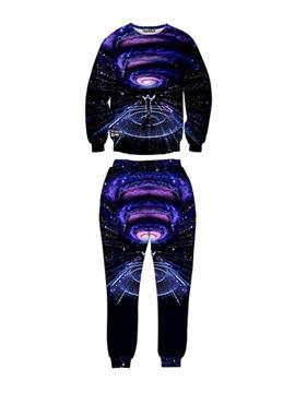 Mystery Man Direct Universal Spandex 3D Long-Sleeve Blue Men's Sweatshirt Sets